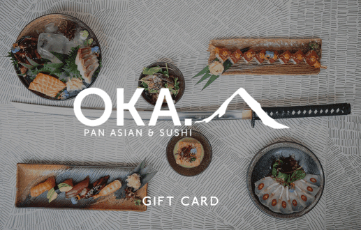 Oka Restaurants  Gift Card